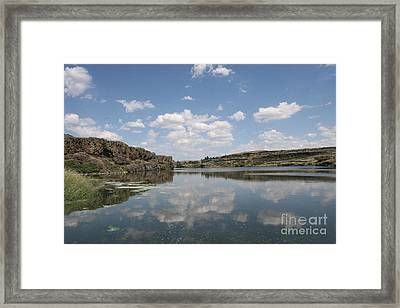 Clouds On Water Framed Print by Rich Collins