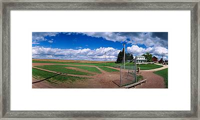 Clouds Over A Baseball Field, Field Framed Print by Panoramic Images