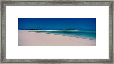 Clouds Over A Beach, Aitutaki, Cook Framed Print