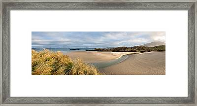 Clouds Over A Beach, Lettergesh Framed Print by Panoramic Images