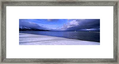 Clouds Over A Lake, Lake Tahoe Framed Print