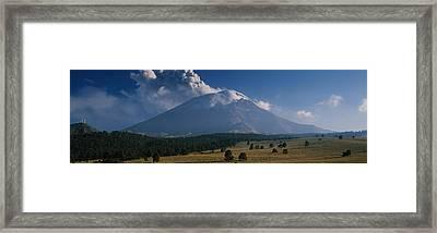 Clouds Over A Mountain, Popocatepetl Framed Print