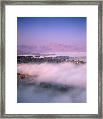 Clouds Over A Valley, Guadalevin Framed Print by Panoramic Images