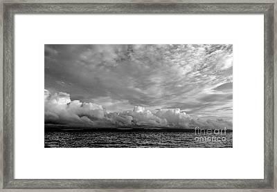 Clouds Over Alabat Island Framed Print