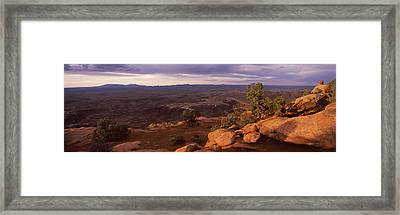 Clouds Over An Arid Landscape Framed Print by Panoramic Images
