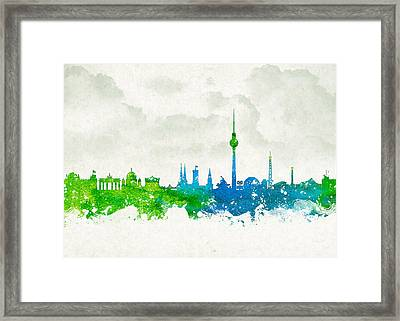 Clouds Over Berlin Germany Framed Print by Aged Pixel