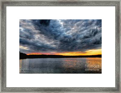 Framed Print featuring the photograph Clouds Over Big Twin Lake by Trey Foerster