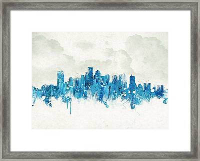 Clouds Over Boston Massachusetts Usa Framed Print by Aged Pixel
