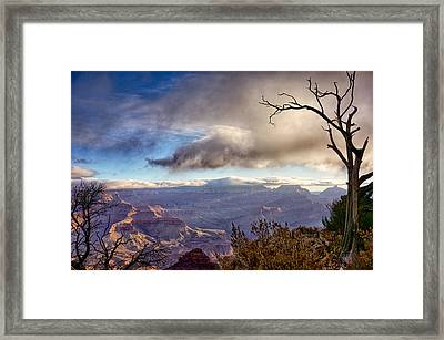 Clouds Over Canyon Framed Print by Lisa  Spencer