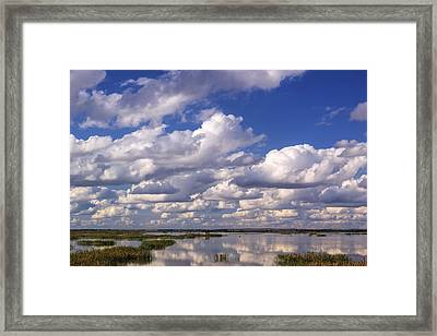 Clouds Over Cheyenne Bottoms Framed Print