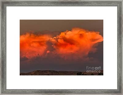 Clouds Over Emmett Foothills Framed Print