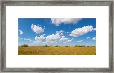 Clouds Over Everglades National Park Framed Print by Panoramic Images