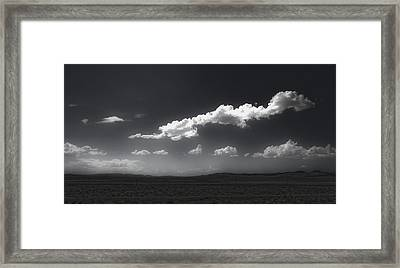 Clouds Over Fallon Nevada Framed Print by Gregory Dyer