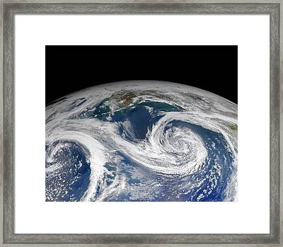 Clouds Over Gulf Of Alaska Framed Print by Nasa/norman Kuring, Ocean Color Web