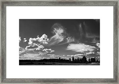 Clouds Over Hatch Rd Framed Print