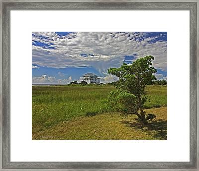 Clouds Over Hatteras Framed Print