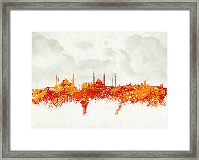 Clouds Over Istanbul Turkey Framed Print