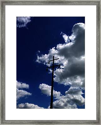 Clouds Over Jacksonville Il Framed Print