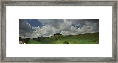 Clouds Over Kirkcarrion Copse Framed Print