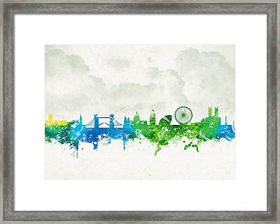 Clouds Over London England Framed Print by Aged Pixel