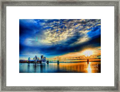 Clouds Over Louisville Framed Print by Darren Fisher