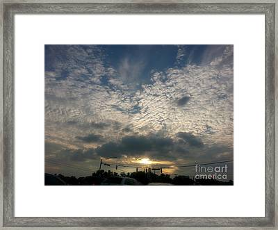 Framed Print featuring the photograph Clouds Over Maryland by Emmy Marie Vickers