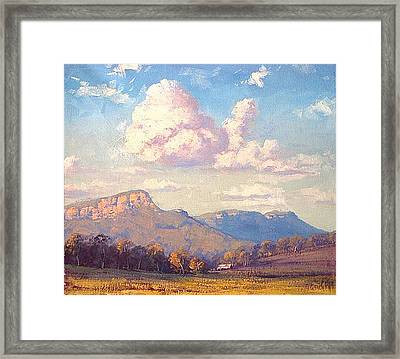 Clouds Over Megalong Framed Print