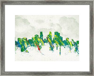 Clouds Over Minneapolis Minnesota Usa Framed Print by Aged Pixel