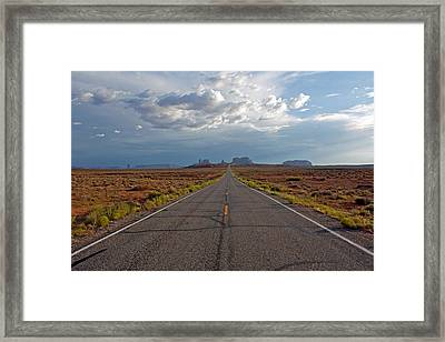 Clouds Over Monument Valley Framed Print by Chris Flack Desert Images