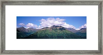 Clouds Over Mountain Range, Seward Framed Print by Panoramic Images