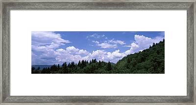 Clouds Over Mountains, Cherokee, Blue Framed Print by Panoramic Images