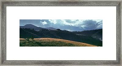 Clouds Over Mountains, Eagle Nest Lake Framed Print by Panoramic Images