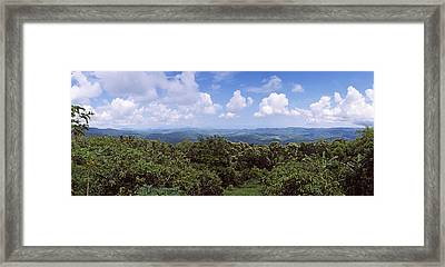 Clouds Over Mountains, Flores Island Framed Print by Panoramic Images