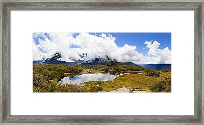 Clouds Over Mountains, Key Summit Framed Print