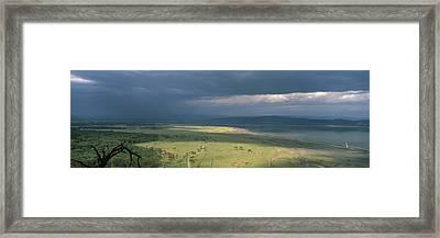 Clouds Over Mountains, Lake Nakuru Framed Print by Panoramic Images