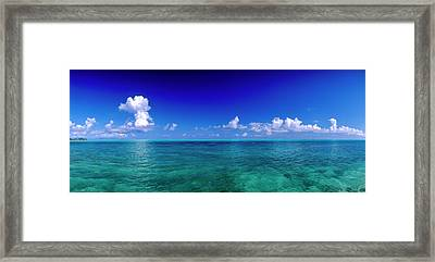 Clouds Over Pacific Ocean, Bora Bora Framed Print by Panoramic Images