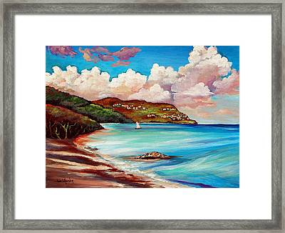 Clouds Over Paradise Framed Print by Eve  Wheeler