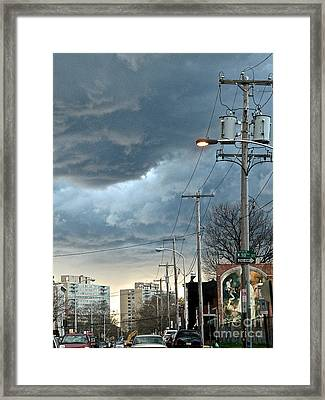 Clouds Over Philadelphia Framed Print