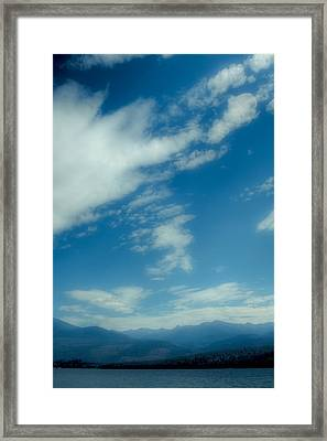 Clouds Over Priest Lake Framed Print by David Patterson