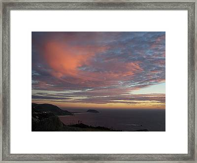 Clouds Over Pt Sur Framed Print