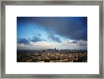 Clouds Over San Francisco Framed Print by Eric Miller