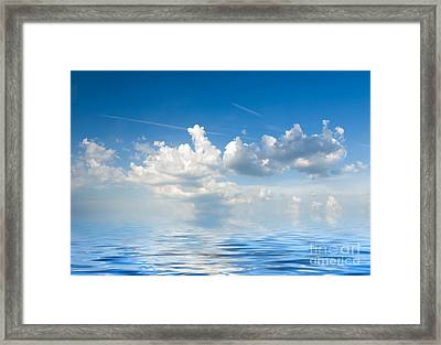 Clouds Over Sea Framed Print by Boon Mee