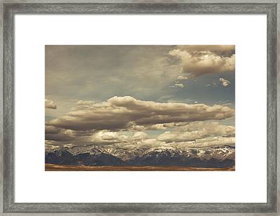 Clouds Over Sierra Nevada Mountains Framed Print by Panoramic Images