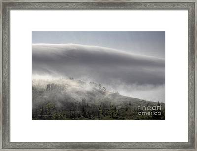 Framed Print featuring the photograph Clouds Over Sleeping Bear Dunes 1 by Trey Foerster
