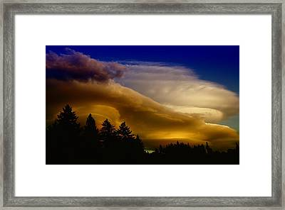 Clouds Over Southern Alberta Framed Print by Jeff Swan