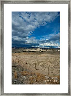 Clouds Over The Adobes Framed Print