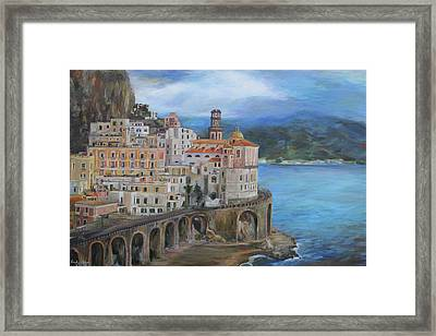 Clouds Over The Amalfi Coast Framed Print