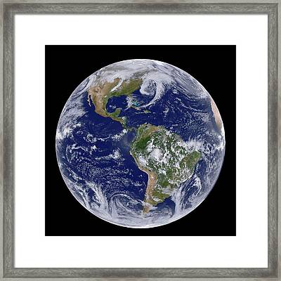 Clouds Over The Americas Framed Print