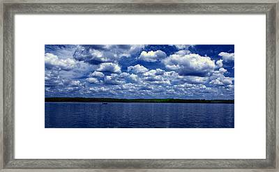 Clouds Over The Catawba River Framed Print