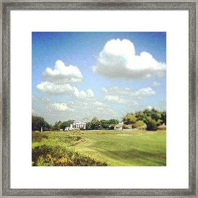 Clouds Over The Club House #iphone5 Framed Print